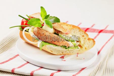 pork, and, vegetable, sandwich - 14079469