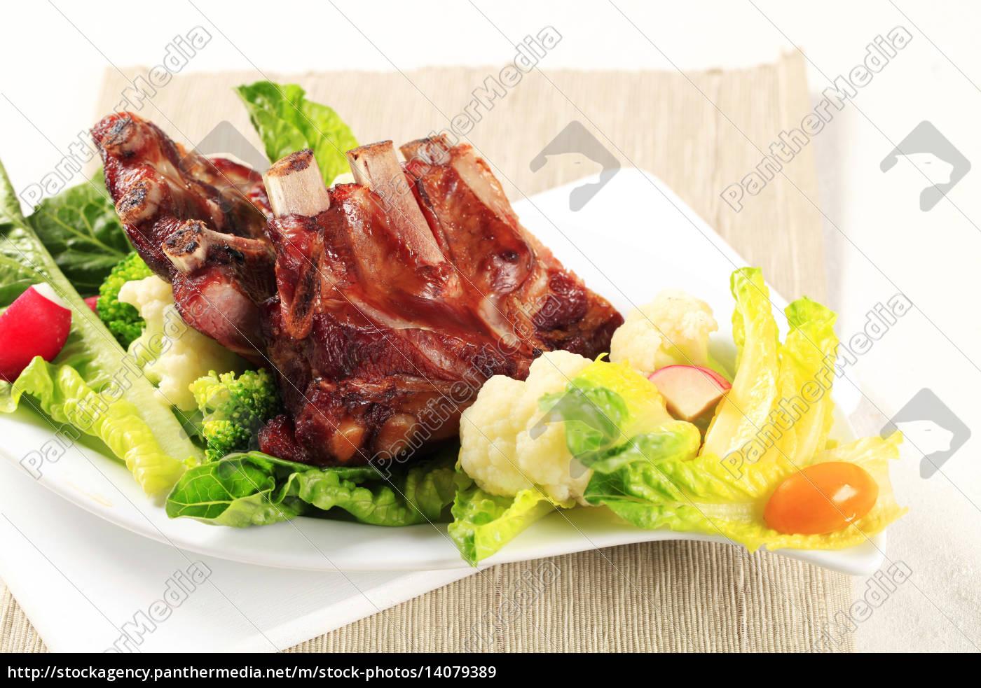 smoked, pork, ribs, - 14079389