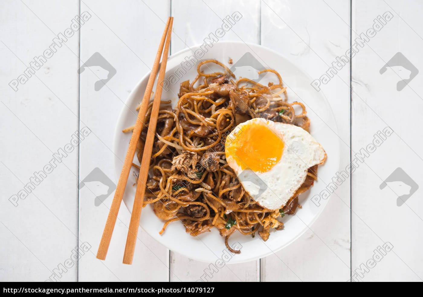 stir, fried, char, kuey, teow, noodles - 14079127