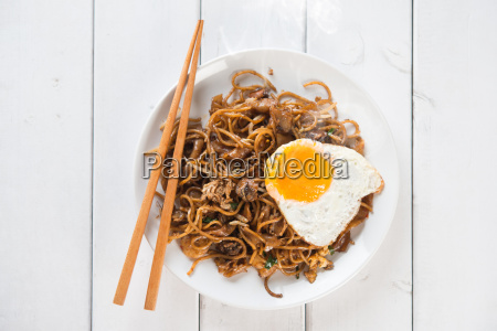 stir, fried, char, kuey, teow, noodles - 14079127