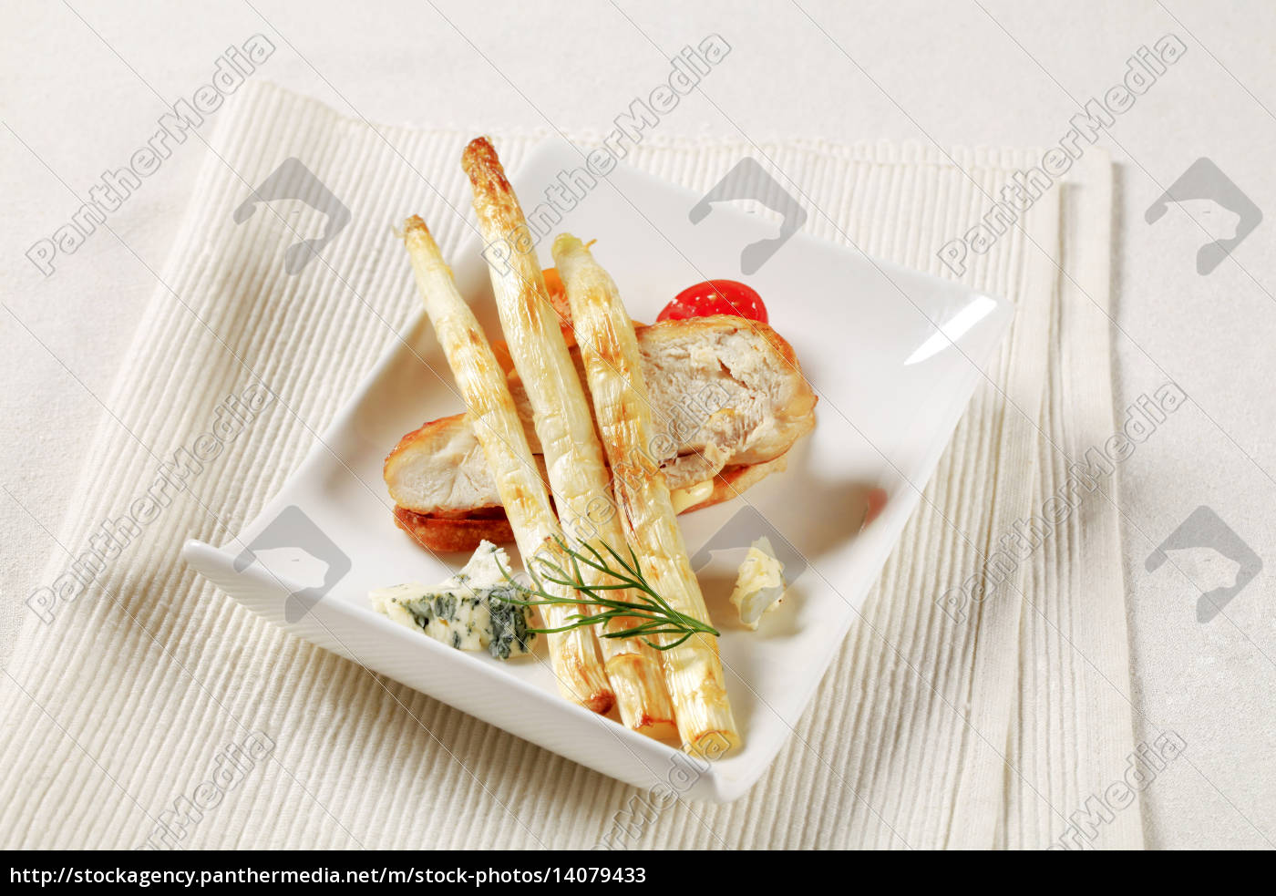 white, asparagus, and, chicken, breast - 14079433