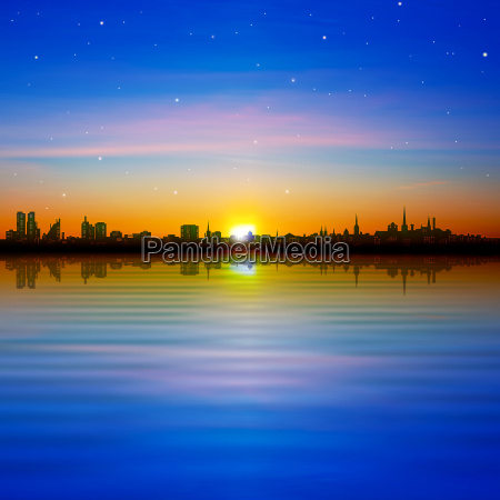 abstract, background, with, panorama, of, city - 14080771