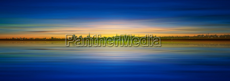 abstract, background, with, silhouette, of, city - 14080797