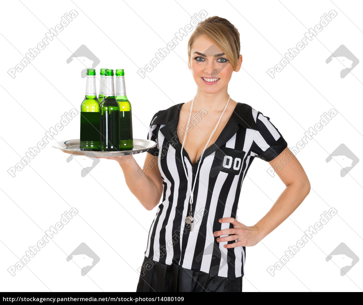 female, referee, with, drinks, on, tray - 14080109