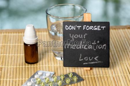 medication, reminder, on, bamboo - 14080507