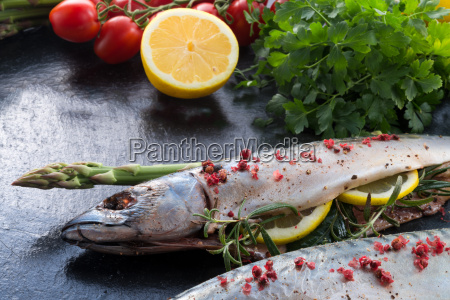 angle, fish, vegetable, food, dish, meal - 14081837