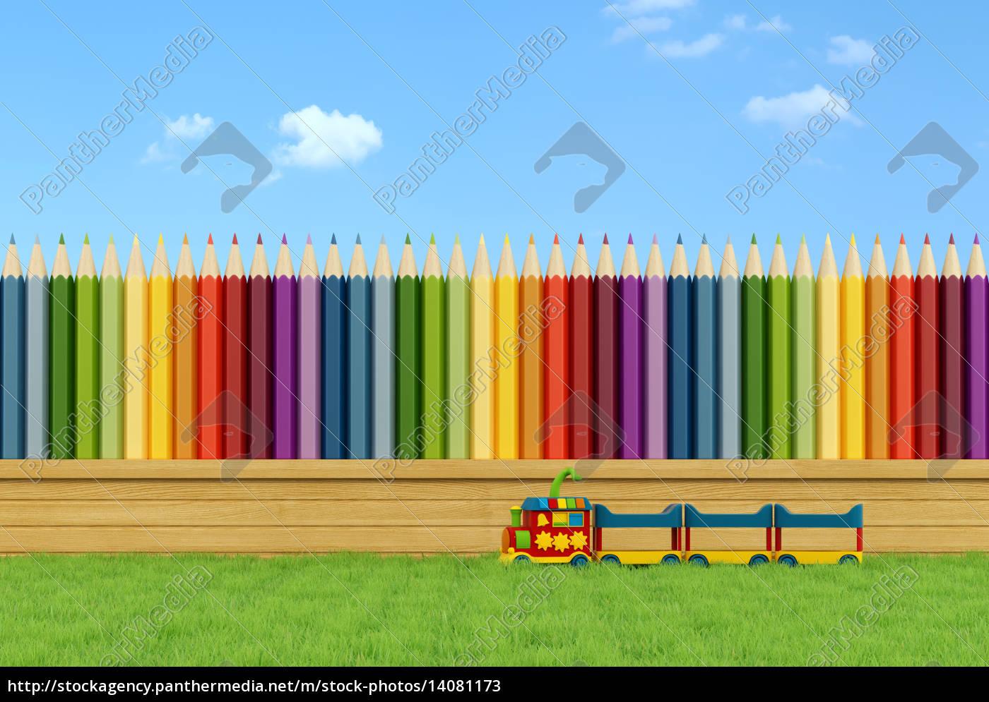 colorful, garden, for, children - 14081173