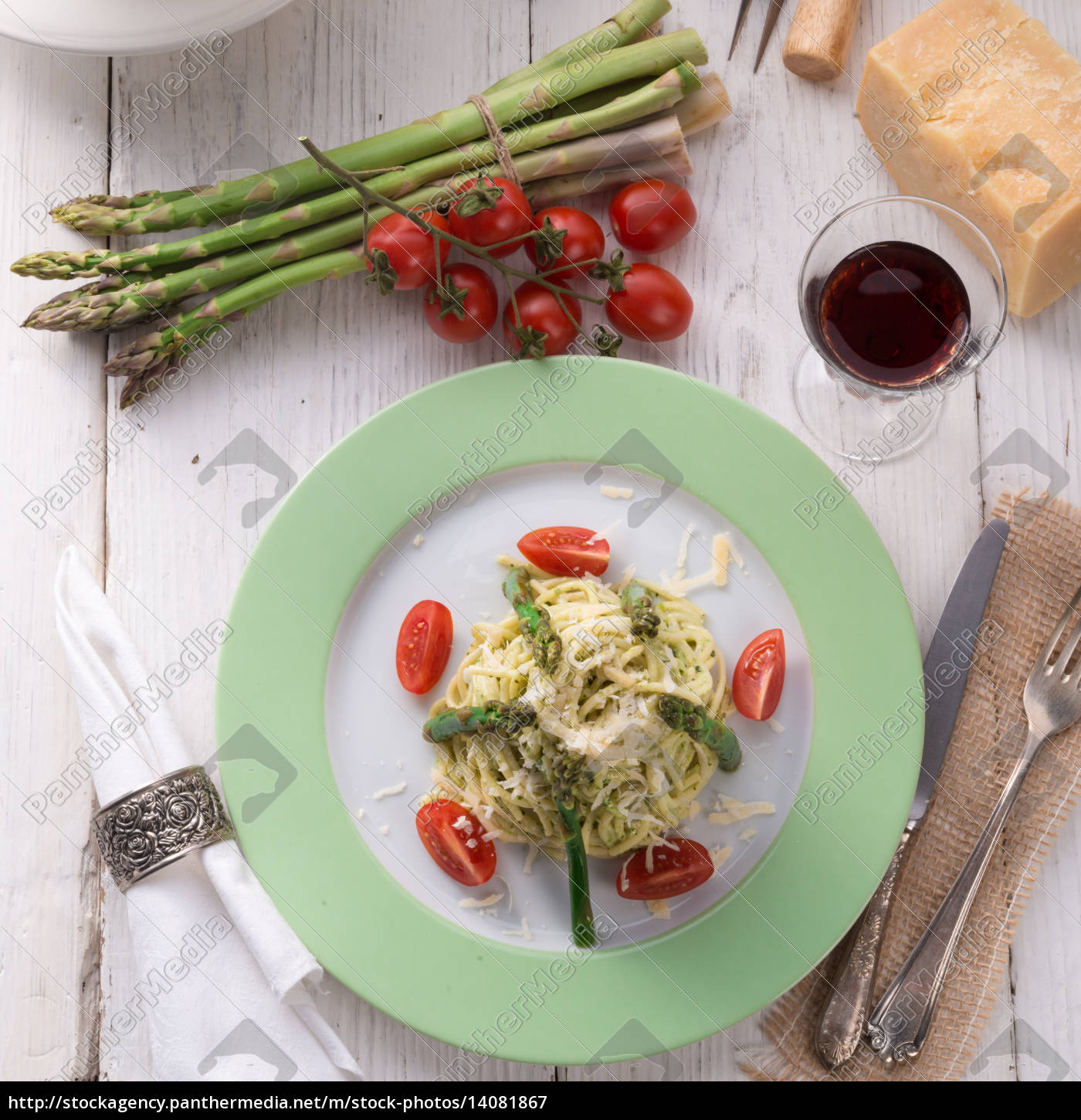 pasta, with, asparagus - 14081867