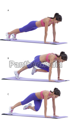 plank, with, knee, to, elbow - 14081653