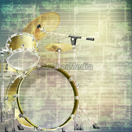 abstract, grunge, music, background, with, drum - 14082773