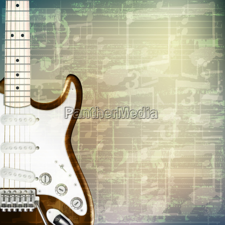 abstract, grunge, music, background, with, electric - 14082783