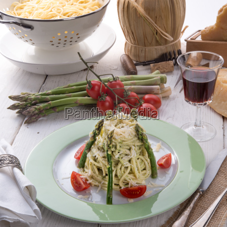 pasta, with, asparagus - 14082201