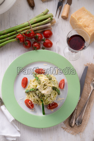 pasta, with, asparagus - 14082205
