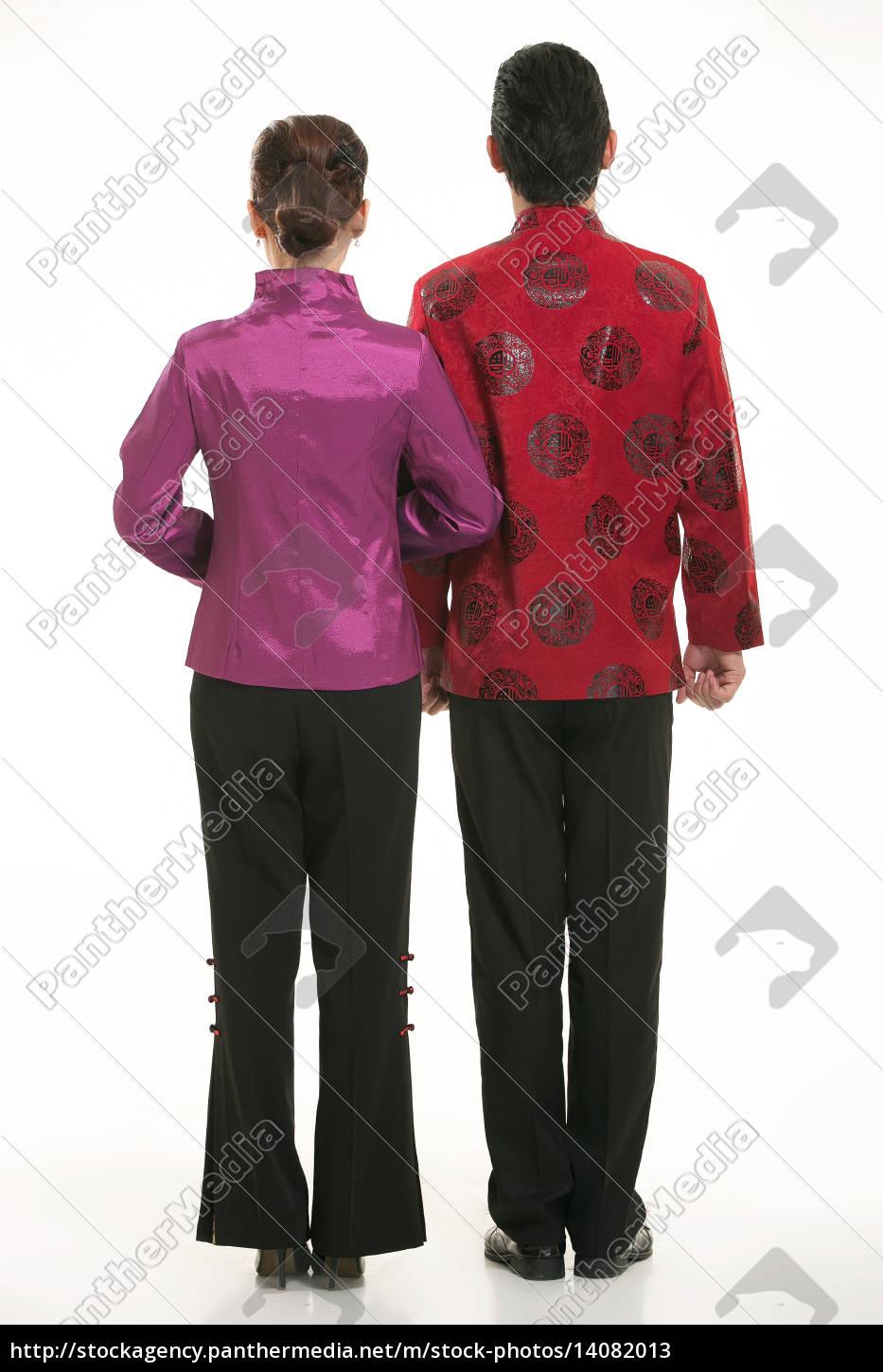 wearing, chinese, clothing, waiter, in, front - 14082013