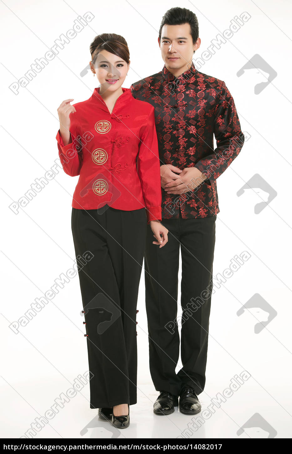 wearing, chinese, clothing, waiter, in, front - 14082017