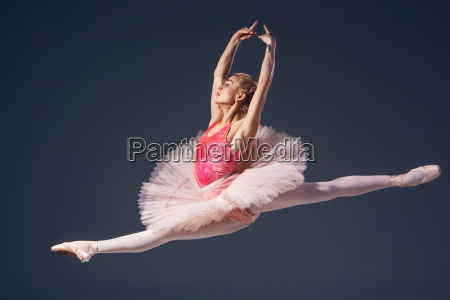beautiful female ballet dancer on a