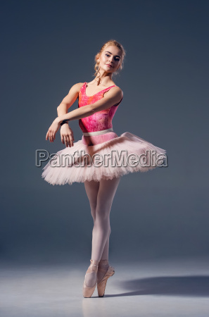 portrait of the ballerina in ballet