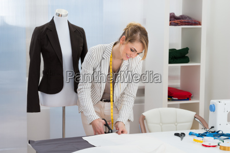 female, fashion, designer, cutting, fabric - 14083591