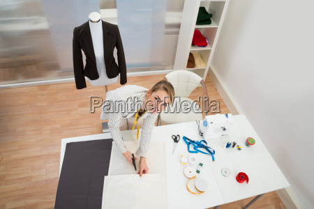 happy, fashion, designer, in, studio - 14083609