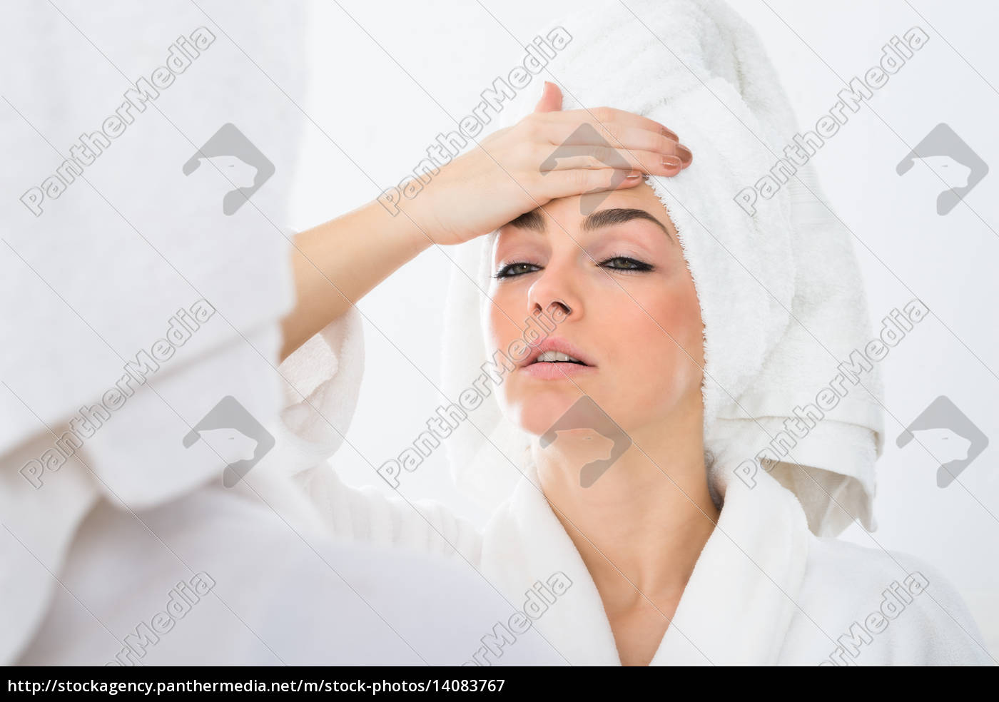 woman, suffering, from, fever - 14083767