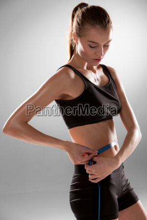 fit, and, healthy, waist, measured, with - 14084085