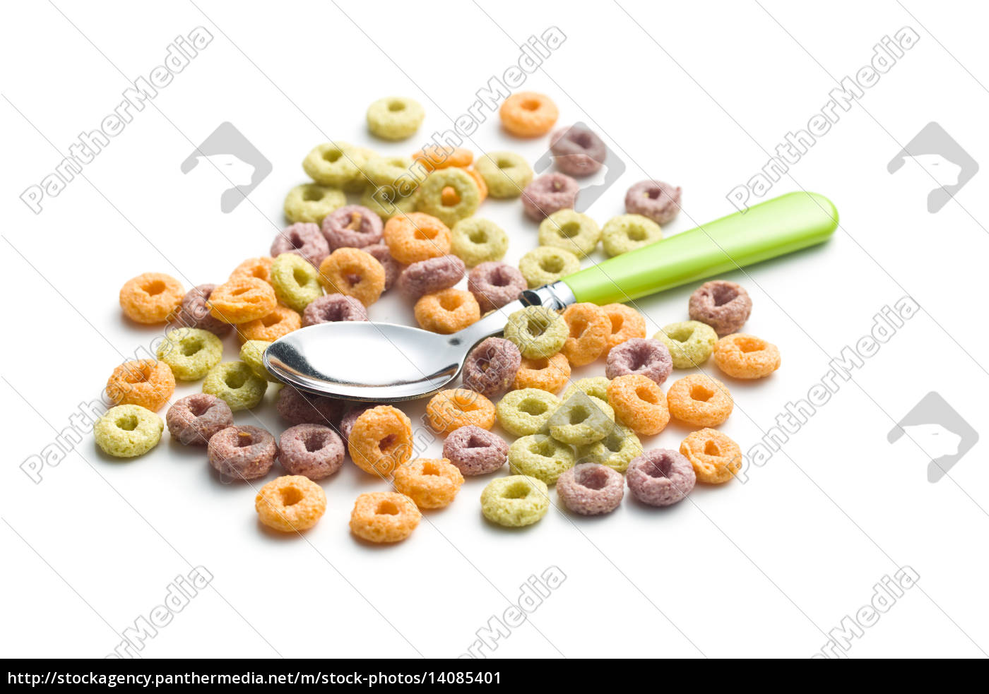 colorful, cereal, rings, and, spoon - 14085401