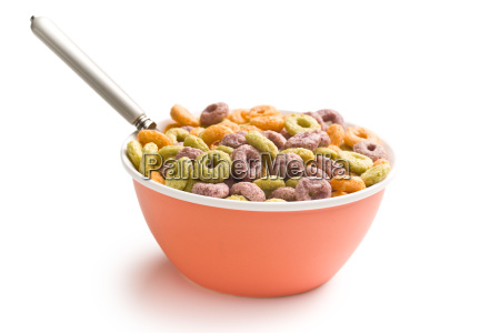 colorful, cereal, rings, in, bowl - 14085387