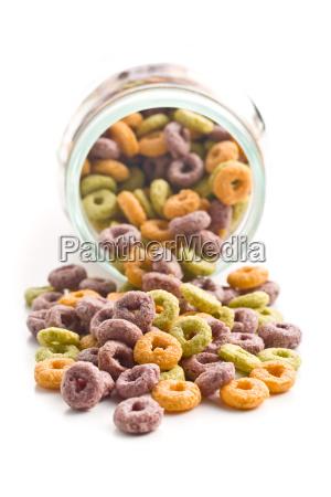 colorful, cereal, rings, in, jar - 14085413