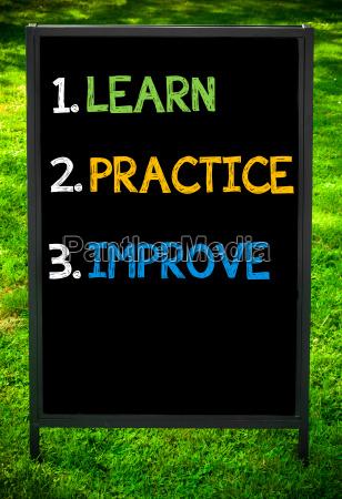 learn, , practice, , improve - 14085723