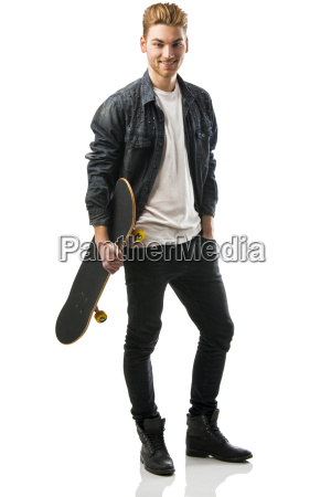 young, man, with, a, skateboard - 14085995