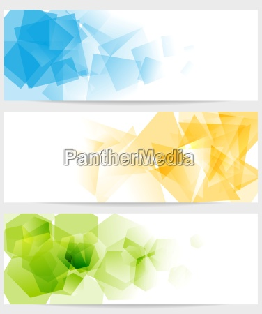 abstract tech colorful banners