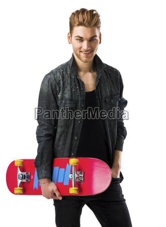 young, man, with, a, skateboard - 14086029