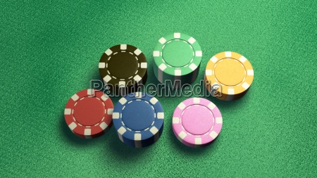casino, chips, of, 6, color - 14087849