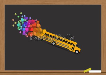 school, bus - 14087183