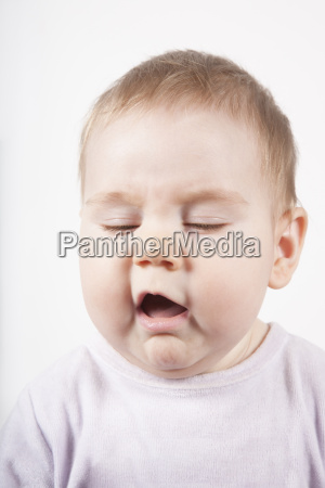 disgusted or sneeze face baby