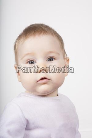 portrait of blonde baby