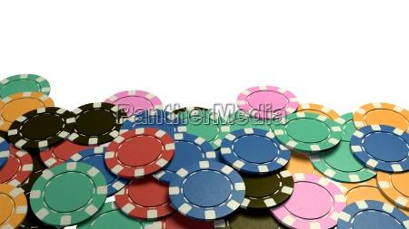 casino, chips, show, hand, white, background - 14089959