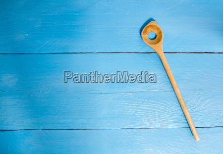 cooking, spoon, on, blue, wood, as - 14089747
