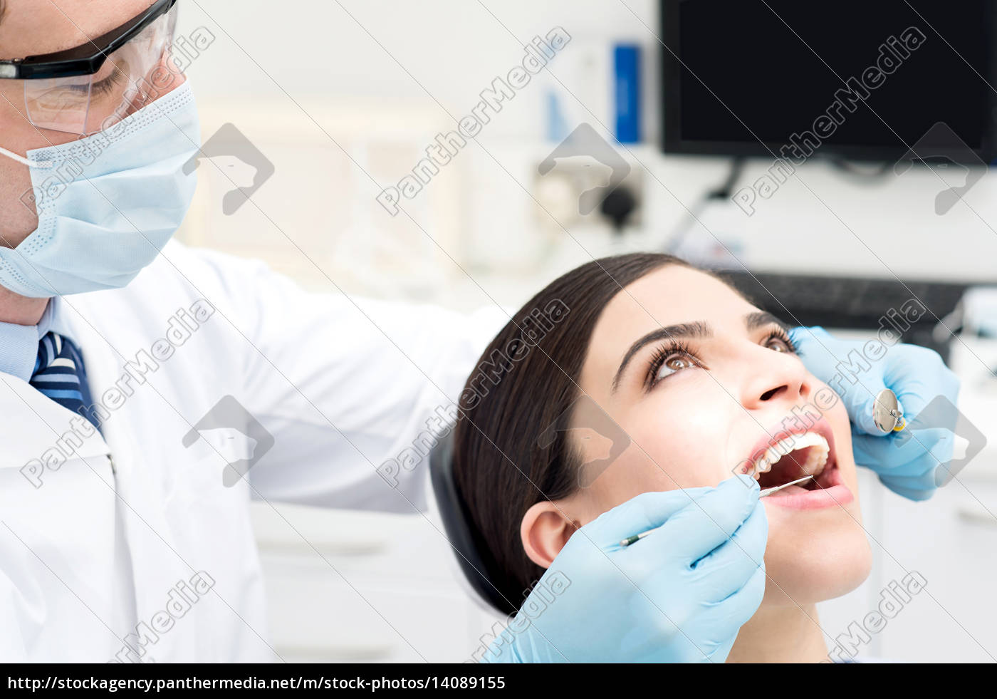 dental, treatment, of, female. - 14089155