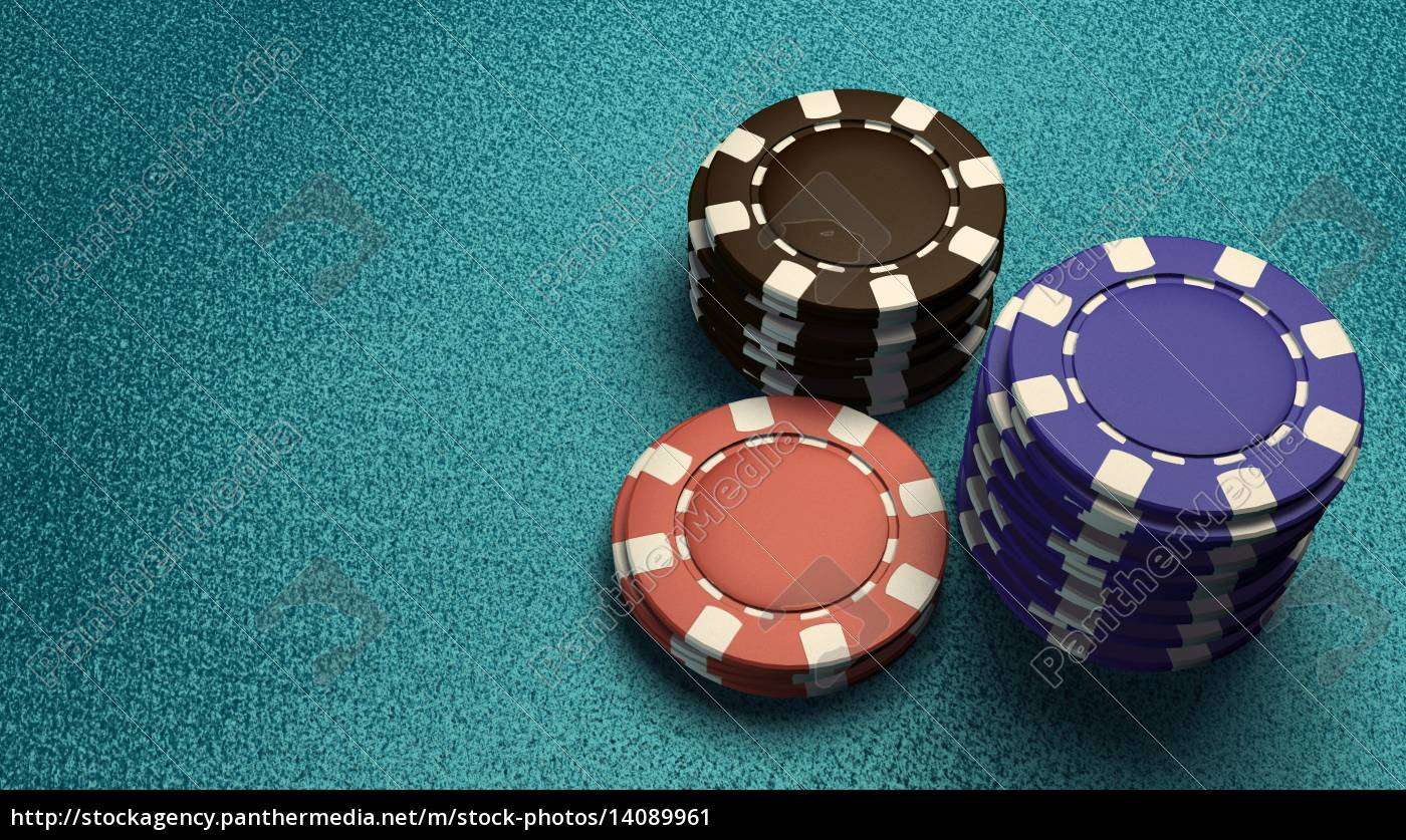focus, of, casino, chips, blue, table - 14089961
