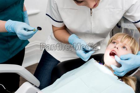 girl, on, her, annual, dental, check - 14089147