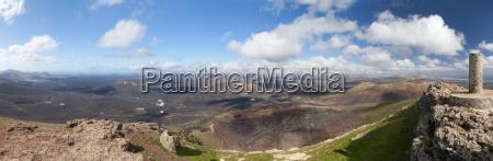 lanzarote panorama of the montana
