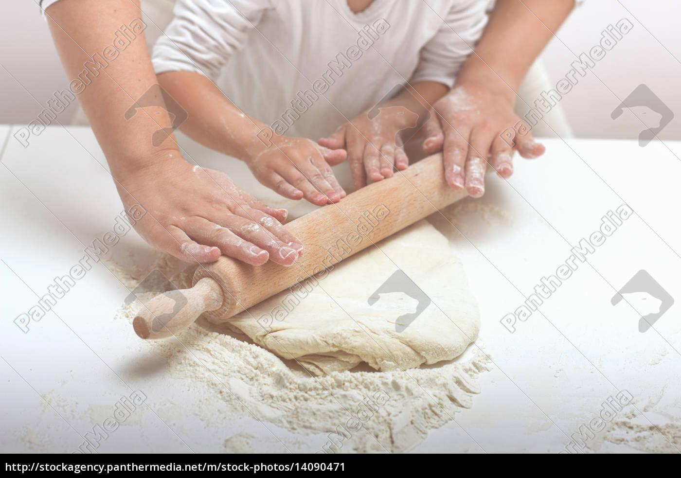 , teamwork, kneading, dough - 14090471