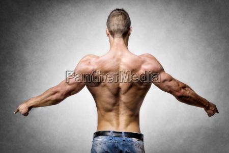 athlete, in, denim, trousers - 14090865