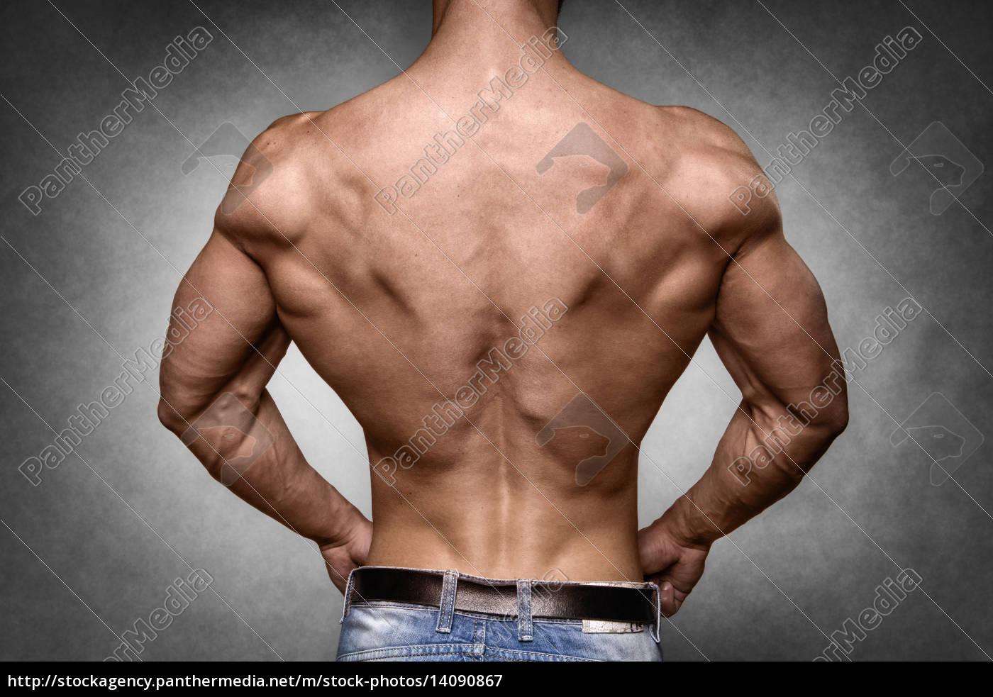 athlete, in, denim, trousers - 14090867