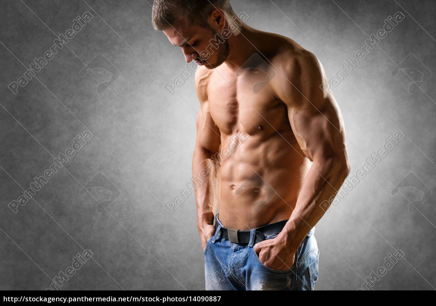 athlete, in, denim, trousers - 14090887
