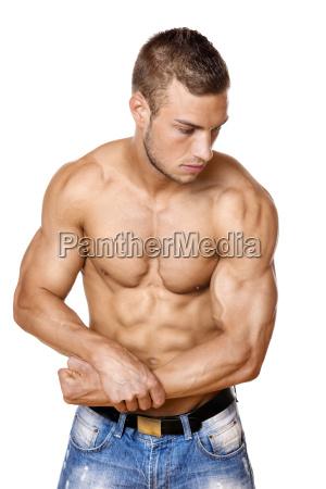 athlete, in, denim, trousers - 14090901