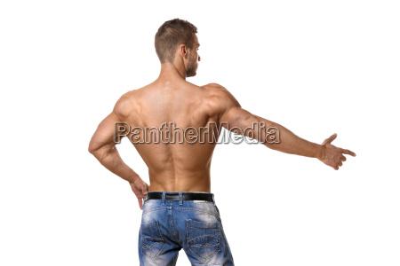 athlete, in, denim, trousers - 14090929