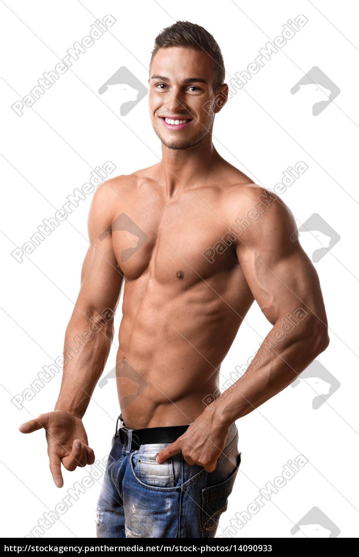 athlete, in, denim, trousers - 14090933