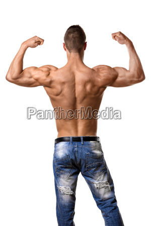 athlete, in, denim, trousers - 14090937